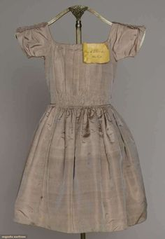 Girl's Silk Party Dress, 1852, Augusta Auctions, March 21, 2012 NYC, Lot 37