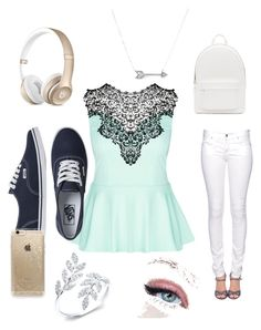 Last Day of School by acj1227 on Polyvore featuring polyvore, fashion, style, City Chic, Citizen of Humanity, Vans, PB 0110, Adina Reyter and Rifle Paper Co