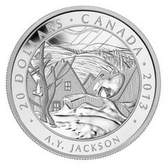 Royal Canadian Mint $20 2013 Fine Silver Coin - Group of Seven - A.Y. Jackson $89.95