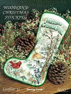 Woodland Christmas Stocking by Stoney Creek - Cross Stitch Kits & Patterns