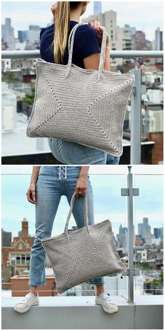 gehäkelte Tasche/Shopper crocheted bag / shopper You are in the right place about Crochet granny square Here we offer you the most beautiful pictures about. Bag Crochet, Crochet Handbags, Crochet Purses, Love Crochet, Beautiful Crochet, Crochet Crafts, Crochet Yarn, Crochet Stitches, Knitting Yarn