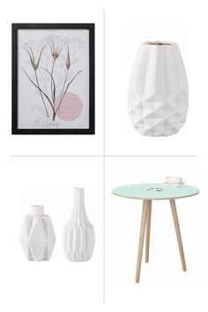 Sanfte Farben und schlichte, klare Formen mit Natur-Elementen machen den skandinavischen Einrichtungsstil so einzigartig. Der Beistelltisch von andas, das Bild von Bloomingville und die Vasen von Home affaire nehmen diesen Look auf und zaubern ein puristisch stylisches Ambiente.