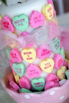 A Little Loveliness: Conversation Heart Table