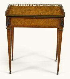 c1780 A Louis XVI gilt-bronze mounted tulipwood and bois de citronnier parquetry table à écrire by Guillaume Kemp, circa 1780  Estimate   4,000 — 6,000  GBP  4,909 - 7,363USD. unsold