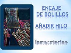 Video tutorial de encaje de bolillos: Como añadir hilo a un bolillo Lace Heart, Lace Jewelry, Bobbin Lace, Lace Detail, Videos, Stick Pins, Lace, Tulle Lace, Crochet Necklace