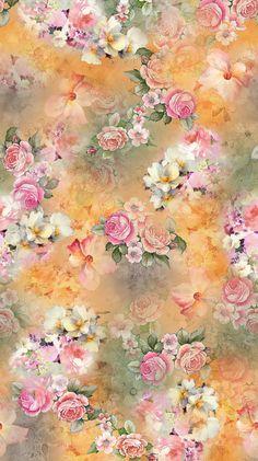 35 New Ideas Wallpaper Flowers Vintage Iphone Floral Prints Blue Flower Wallpaper, Vintage Flowers Wallpaper, Honeycomb Wallpaper, Stencil, Lotus Flower Art, Luxury Flowers, Fractal Art, Floral Watercolor, Iphone Wallpaper