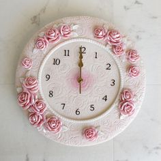 【楽天市場】ピンクローズデコ掛時計TAB0712 薔薇雑貨 ピンク レース 姫系インテリア:薔薇雑貨姫系雑貨のお店 RoseRich