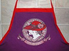Red Hat Diva Apron or Adult Bib by funfoodsaprons on Etsy