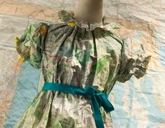 children's clothes made from maps