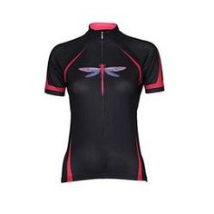 dragonfly cycling jerseys women | Dragonfly Blk/Pink Women's Cycling Jersey