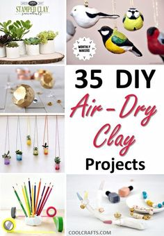 35 DIY Air Dry Clay Projects That Are Fun + Easy, http://www.coolcrafts.com/air-dry-clay-projects/
