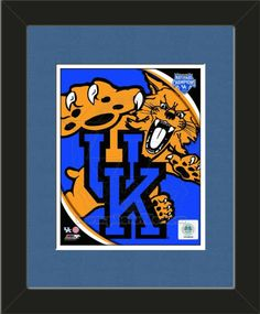 One framed 8 x 10 inch University of Kentucky photo of University of Kentucky Team Logo, double matted in team colors to 11 x 14 inches.  $39.99 @ ArtandMore.com