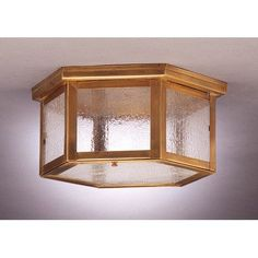 "Northeast Lantern Williams 5.75"" Two Medium Base Sockets Flush Mount Finish: Antique Copper, Shade Color: Clear"