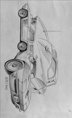 63 Corvette Stingray, Chevy Corvette Z06, Cool Car Drawings, Ink Pen Drawings, Duck Cartoon, Cartoon Art, Corvette History, Cool Cars, Book Art