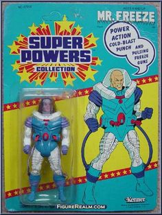 Kenner Super Powers Series 3 Mr. Freeze Figure 1986 Retro Toys, Vintage Toys, Dc Comics Action Figures, Kenner Toys, Classic Artwork, Dc Comics Superheroes, Batman And Superman, Classic Toys, Old Toys