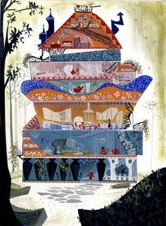 Dream House - Print    House illustration  #illustration #houseillustration #art #artwork Dream House Drawing, House Illustration, Fine Art Paper, Craft Supplies, Handmade Items, Doodles, Super Cute, Art Prints, Artwork