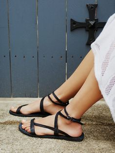 Free People Sausalito Washed Sandals