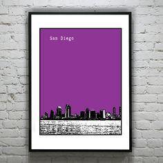 San Diego California Art Print Poster