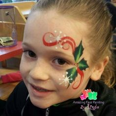 Amazing Face Painting by Linda Holly eye design Mime Face Paint, Girl Face Painting, Face Painting Tips, Face Painting Designs, Painting For Kids, Paint Designs, Body Painting, Face Paintings, Christmas Face Painting
