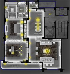 Bar Lighting, Interior Lighting, Lighting Design, Apartment Layout, Apartment Design, Ceiling Design, Lamp Design, Light Architecture, Interior Architecture