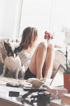 a little alone time with a furry friend