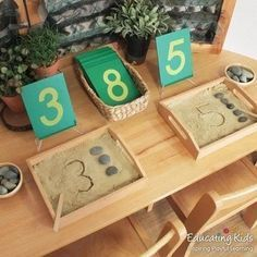 Math Provocations part of morning routine.