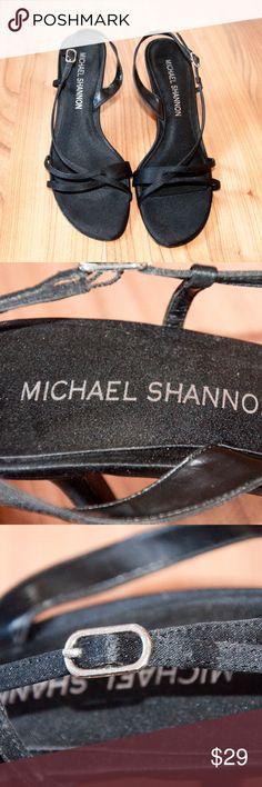 Michael Shannon Size 9 fabric sandals Super cute black sandals size 9 in great shape! Michael Shannon Shoes Sandals
