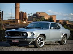 1969 Ford Mustang Hardtop - Factory Front Angle - 1600x1200 - Wallpaper