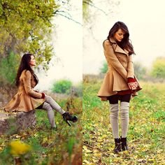 All these autumn leaves are yours tonight... (by Karolina Ościk) http://lookbook.nu/look/2632307-All-these-autumn-leaves-are-yours-tonight