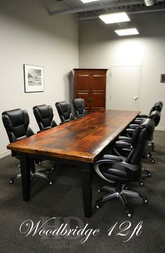 plan rustic office furniture. 14ft Conference Room Table With Modern Iron Base And Rustic, Reclaimed Red Oak Top. See Build Pictures Here - Http://antiquewoodworks.com/sharedpi\u2026 Plan Rustic Office Furniture E