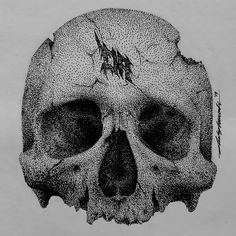 Doodling ✒ #art #artwork #drawing #pointilis #pointilism #stipple #stippling #dotwork #dickyartwork #cranium #skull Stippling Drawing, Bee Drawing, Drawing Stuff, Cool Drawings, Harry Hook, What To Draw, Pointillism, Gcse Art, Pen Art