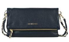 Clutch azul acabado en piel #bolsodepiel #handbags #Bridas #Clenapal #FW14