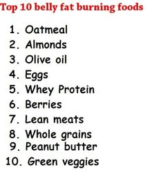 Top 10 Belly Fat Burning Foods (keep these in mind when building your grocery list!)