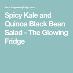 Spicy Kale and Quinoa Black Bean Salad - The Glowing Fridge