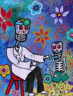 Dia de los Muertos Doctor Painting.