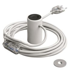 Magnetico®-Plug White is a magnetic lamp holder that can adhere to ferrous smooth surfaces and can be moved according to your needs. it includes transparent switch and bipolar plug and 3 m white cable. Vertical Or Horizontal, A Table, Plugs, Light Bulb, Magnets, Metal, Accessories, Corks, Electric Light