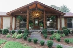ranch homes with front porches * ranch homes . ranch home decor . ranch home remodel . ranch home landscaping . ranch home exteriors . ranch home additions . ranch homes with front porches . ranch home interior Up House, House With Porch, House Front, Houses With Front Porches, Front Porch Addition, Front Porch Design, Ranch Exterior, Exterior Remodel, Mobile Home Porch