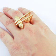 Crystal and Ball Ring by DESiGNERiCA now featured on Fab. $64