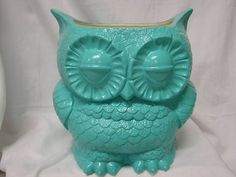 Tootsie Pop Owl Garden Planter  Turquoise by whitedovecrafts, $17.00
