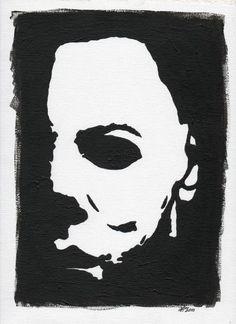 michael myers art | Michael Myers Painting by Kris P - Michael Myers Fine Art Prints and ... Halloween Canvas Paintings, Halloween Painting, Halloween Art, Mini Paintings, Halloween Season, Horror Drawing, Horror Art, Horror Film, Horror Movies