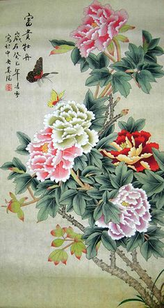 Fortune Original Chinese Peony Painting Wall Scroll : http://www.chilture.com/fortune-original-chinese-peony-painting-wall-scroll-p-619.html