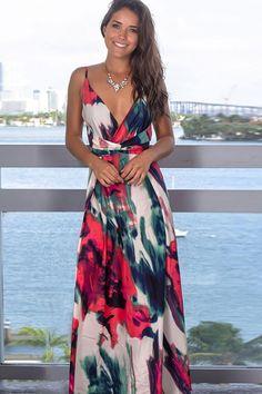 Boho Printed Ruched V Neck Maxi Beach Wrap Dress - White S Source by elleschic Dresses Beach Dresses, Casual Dresses, Fashion Dresses, Summer Dresses, Wrap Dresses, Beach Vacation Dresses, Women's Fashion, Female Fashion, Women's Dresses