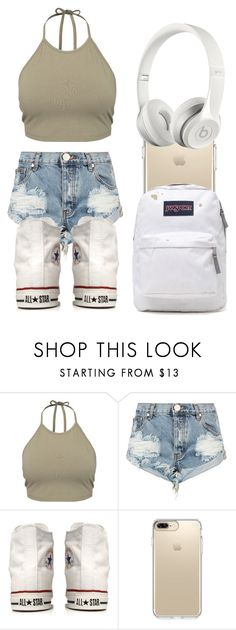 """Casual School"" by casualbandgirl ❤ liked on Polyvore featuring NLY Trend, OneTeaspoon, Converse, Speck, JanSport, Beats by Dr. Dre, Spring, school and teen"