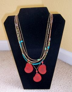 Turquoise, brass, copper, tagua nut