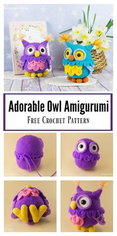Adorable Owl Amigurumi Free Crochet Pattern #freecrochetpatterns #amigurumi #owl