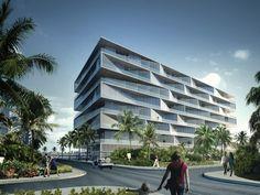 "BIG Unveils ""Honeycomb"" Condominium for Bahamas Resort,© BIG"