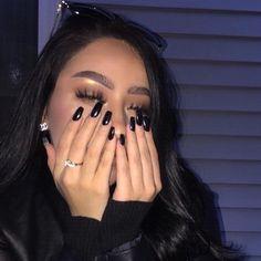 girl, nails, and makeup resmi Cute Acrylic Nails, Cute Nails, Pretty Nails, Beauty Nails, Beauty Makeup, Eye Makeup, Makeup Style, Flawless Makeup, Aycrlic Nails