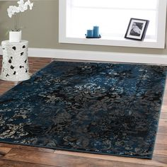 Large Premium Soft Luxury Rugs For Living Rooms 8x11 Navy Blue Rug Beige Brown Black 8x10 Area Rugs Bedroom Office Contemporary Rugs Blue >>> Be sure to check out this awesome product.