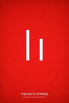 Music Minimalist Poster - The White Stripes