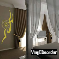 Flower Wall Decal - Vinyl Decal - Car Decal - CF23205